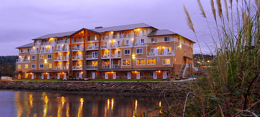 Are Conveniently Located Directly In Front The Oxford Suites And A Short Walk From Best Western Silverdale Beach Hotel Shown Below