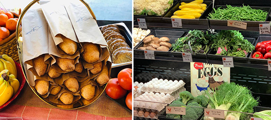Specialty Markets are stocked with fresh groceries and take-out!