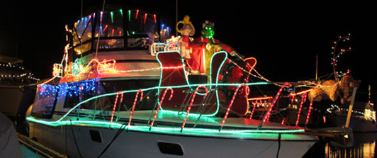 Holiday Lighted Boats